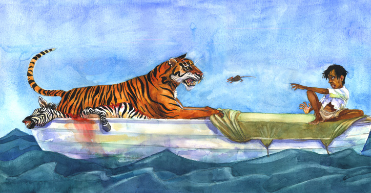 Celebrating children s book illustration bellevue gallery for Life of pi characters animals